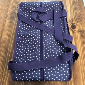 Purple  and cream polka dot fresh market thermal